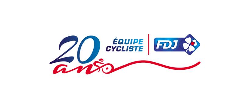 logo FDJ 20 ans Tour de France