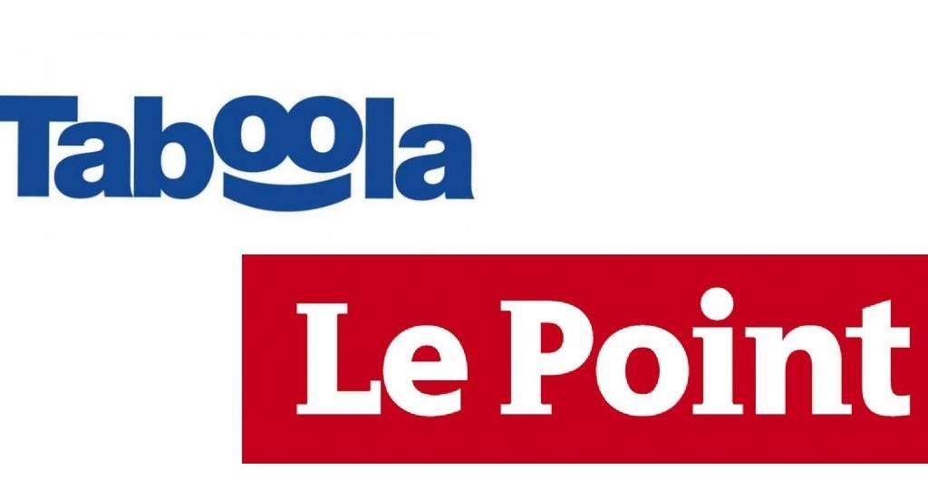 Le poin et Taboola logos
