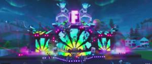 Image du concert de Marshmello sur Fortnite