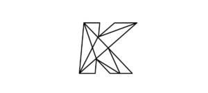 Logo de l'agence digitale Kentaï : un K graphique