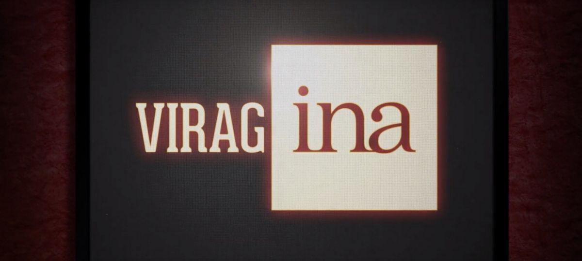 Un écran de télévision où il est écrit  - Virag'INA -