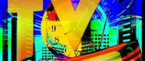 Visuel de banque d'images, avec l'inscription TV au premier plan