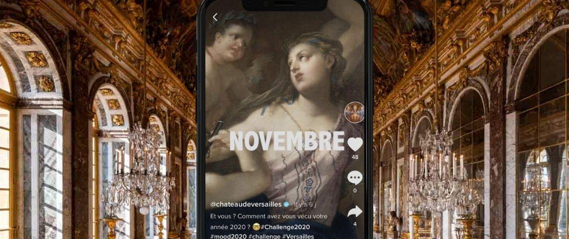 Capture de l'application TikTok du Château de Versailles