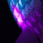 Sphère mauve futuriste