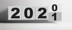 Calendrier qui passe de l'année 2020 à l'année 2021