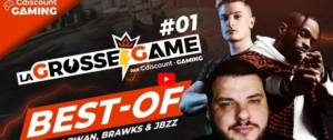 Capture d'écran de l'évènement La Grosse Game avec les streamers Lowan, BrokyBrawks et Jbzzed