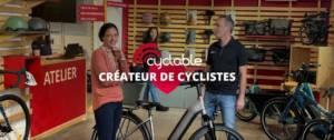 Equipe Cyclable dans leur boutique