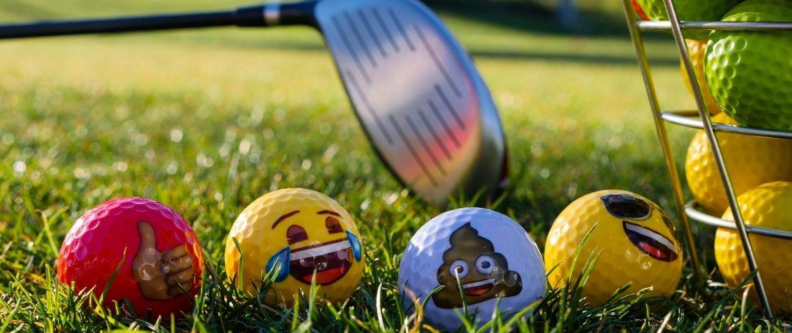 Balles de golfs personnalisées avec des emoticons