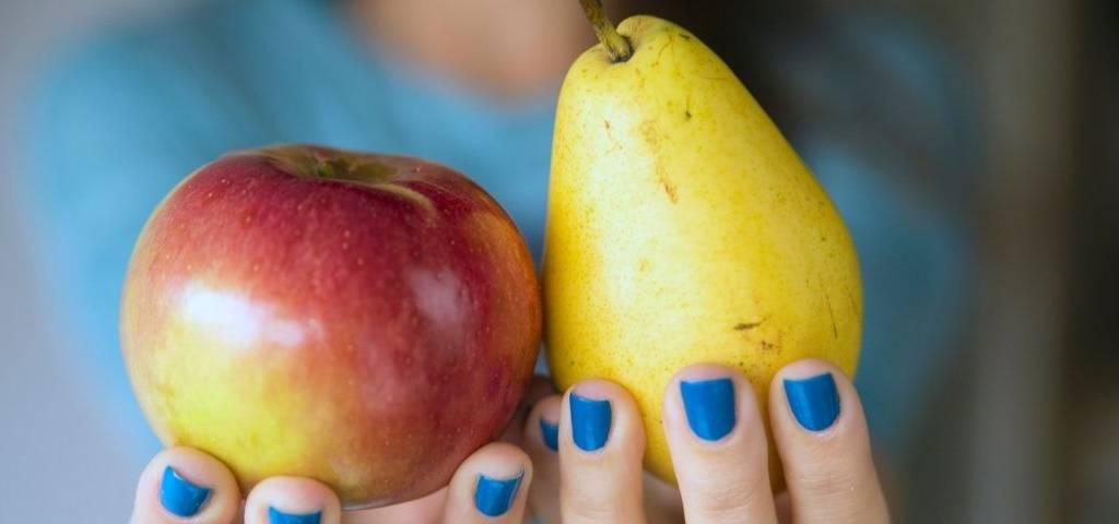 Une pomme et une poire