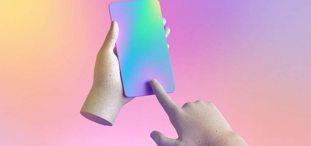 Un téléphone multicolor