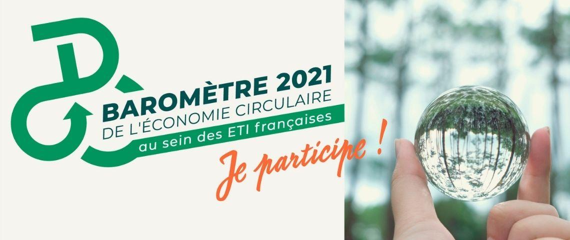 Logo du baromètre 2021 de l'économie circulaire