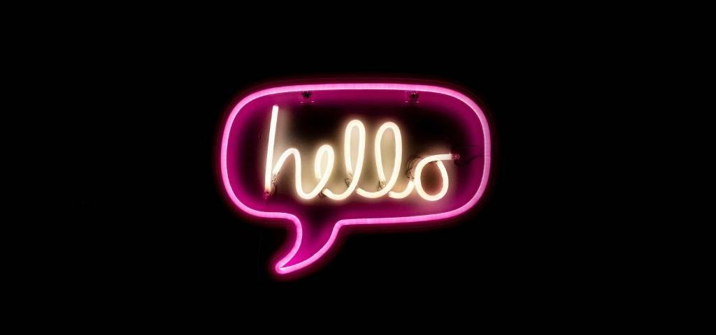 Une message lumineux  - hello -