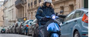 Scooter électrique Zeway bleu