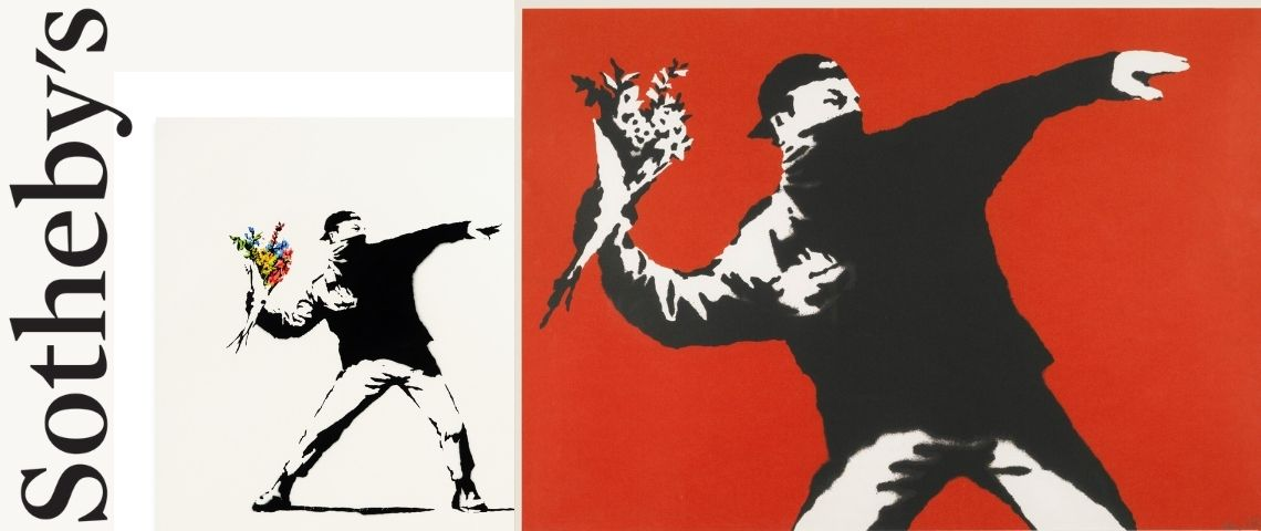 oeuvre  - love is in the air -  de BANSKY