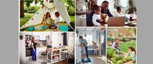 Des hommes et des femmes avec leurs enfants entrain de faire des activités