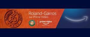 Logo Roland Garros et Prime Video