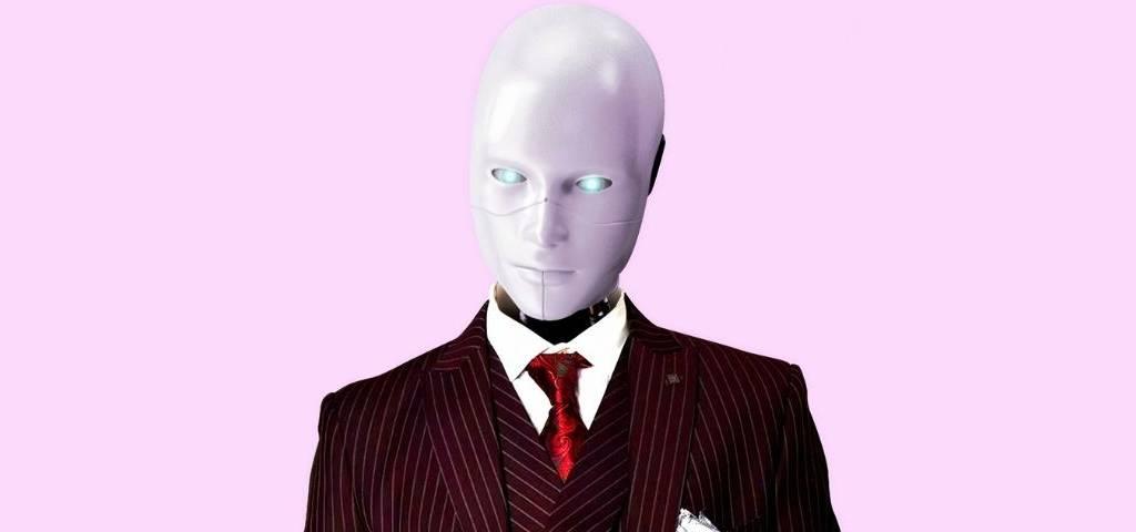 Un robot en costume cravate