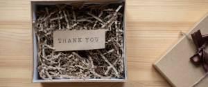 """Boite cadeau, avec le messahe """"Thank You"""""""