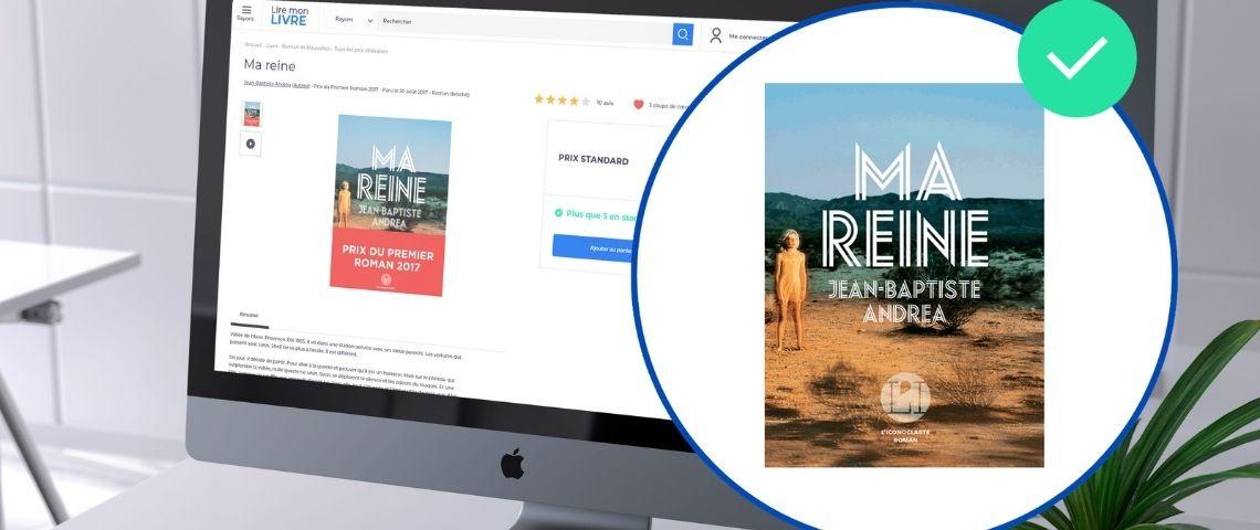Visuel d'un livre vendu en ligne