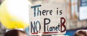 """Message """"There is no planet B"""""""