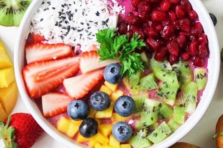 Des céréales et des fruits