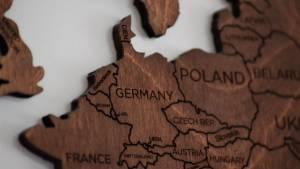 Carte europe en bois