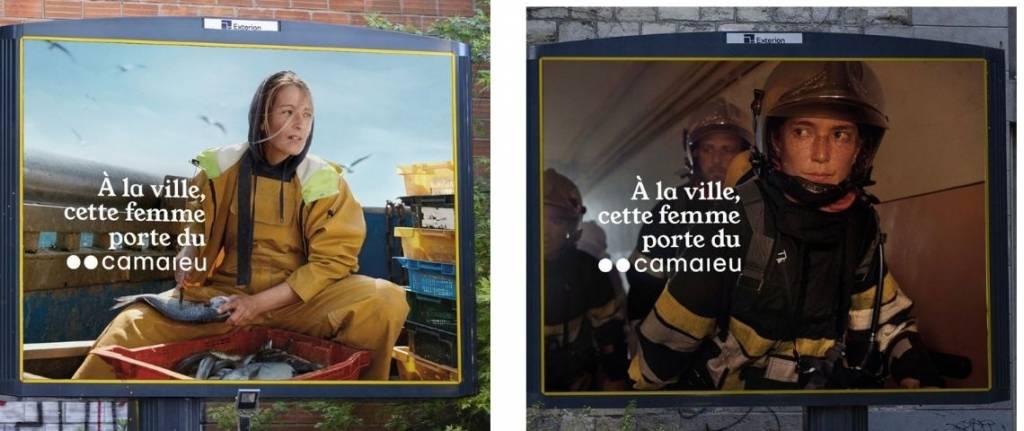 est la première campagne de prêt-à-porter qui ne montre aucun vêtement Camaieu pour ne faire exister que les femmes