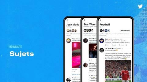 Twitter lance une nouvelle fonctionnalité:  les Sujets en français