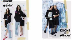Modèle de la collection Tinder by KOCHÉ