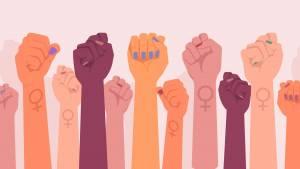 Poings féministes, protestation et révolution, combat féministes